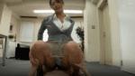 オフィスで騎乗位ずらしハメ
